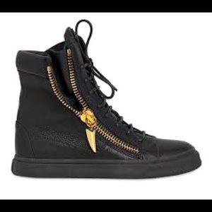 Giuseppe Zanotti Double Zip Gold Black Sneaker 8